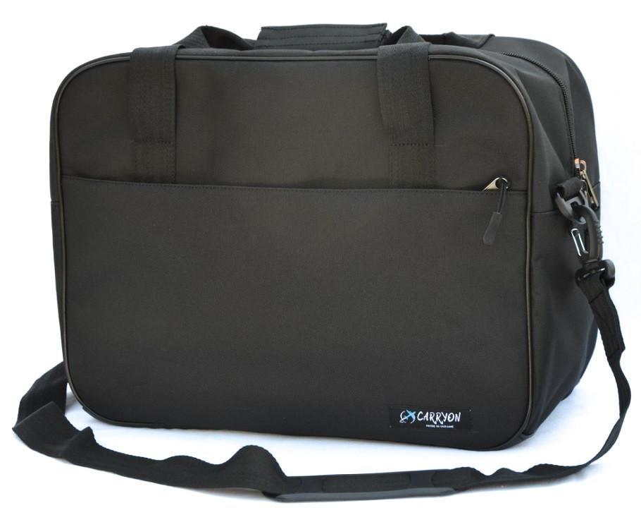 Сумка дорожная для ручной клади МАУ Carryon черная 55х40х20 см