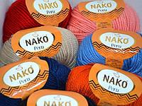 Полушерстяная турецкая пряжа с альпакой Peru NAKO все цвета