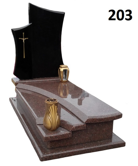 Ексклюзивний комплект пам'ятник з граніту на кладовище