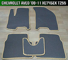 ЄВА килимки на Chevrolet Aveo T255 '08-11. EVA килими Шевроле Авео Т255