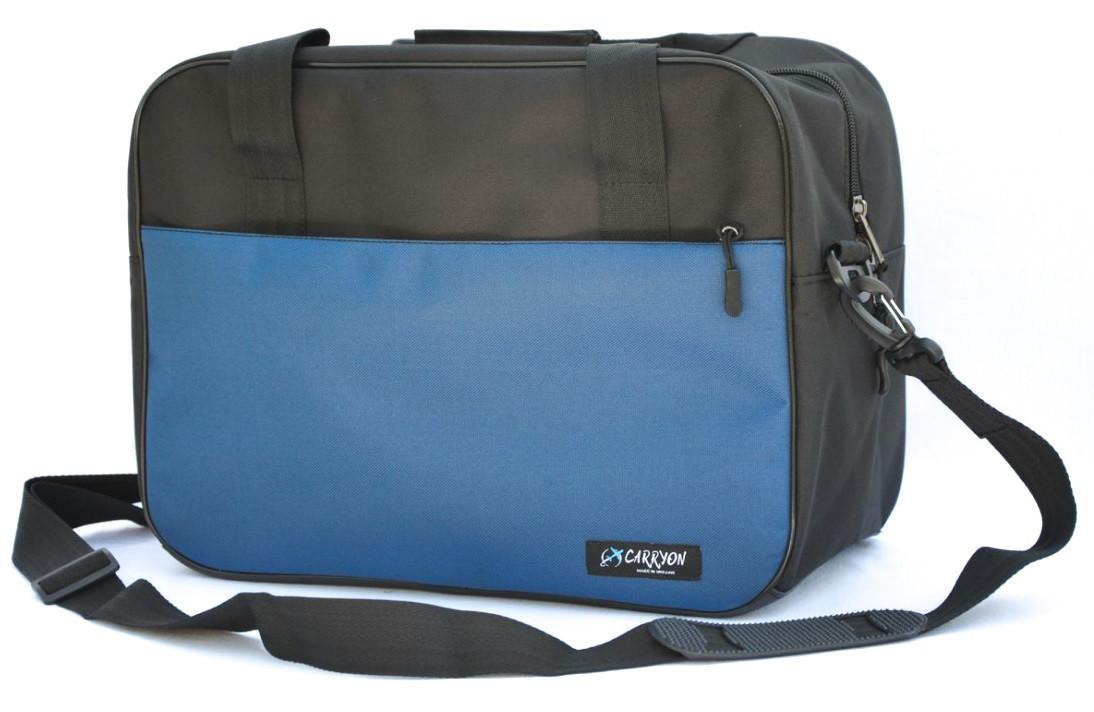 Сумка дорожня для ручної поклажі МАУ Carryon чорно-синя 55х40х20 см