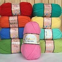 Детская акриловая пряжа Nako Super bebe все цвета