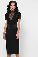 Черное платье футляр по колено