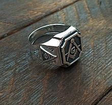 Масонская Печатка мужская из серебра 30312