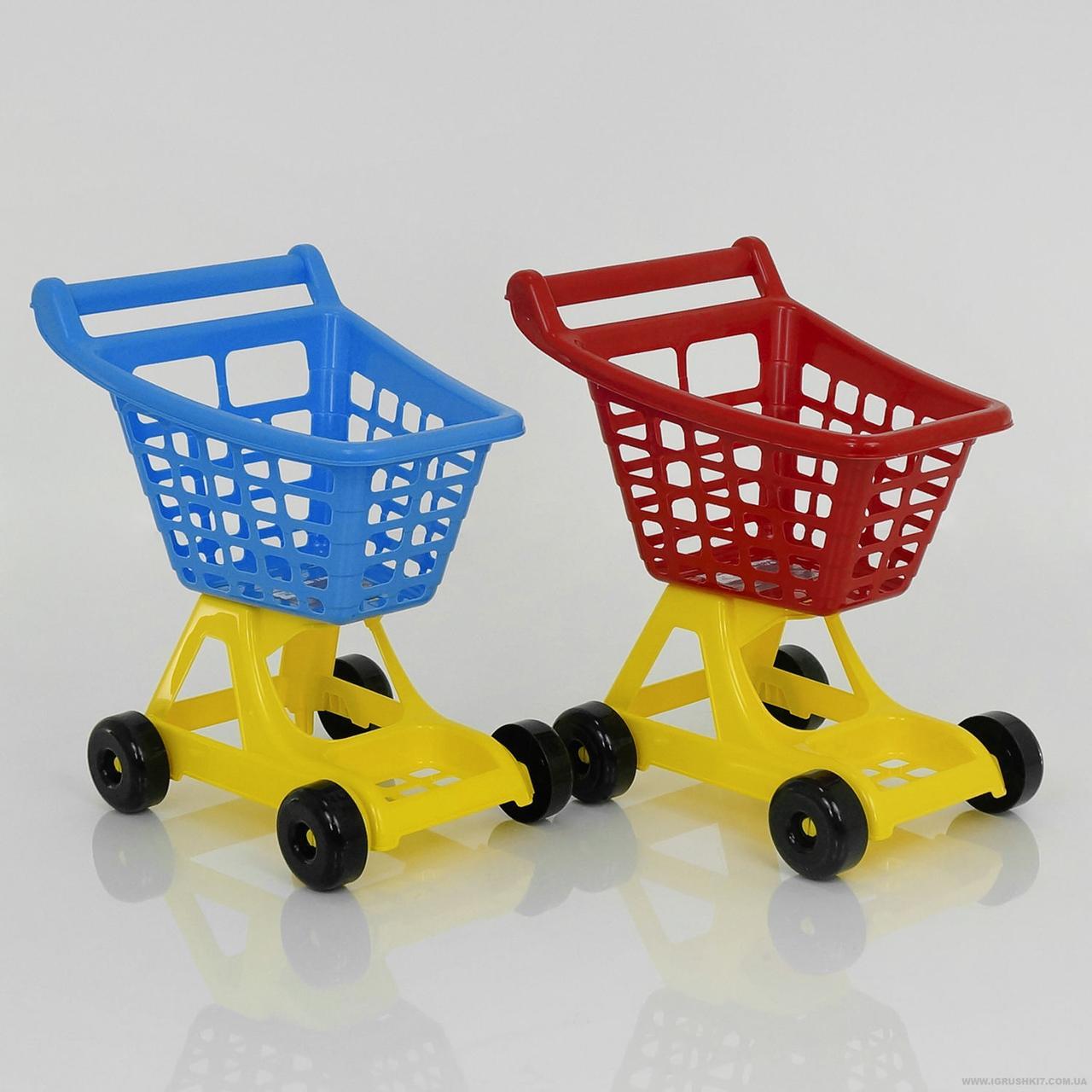 """Тележка для супермаркета 4227 (4) 2 цвета """"ТЕХНОК"""""""
