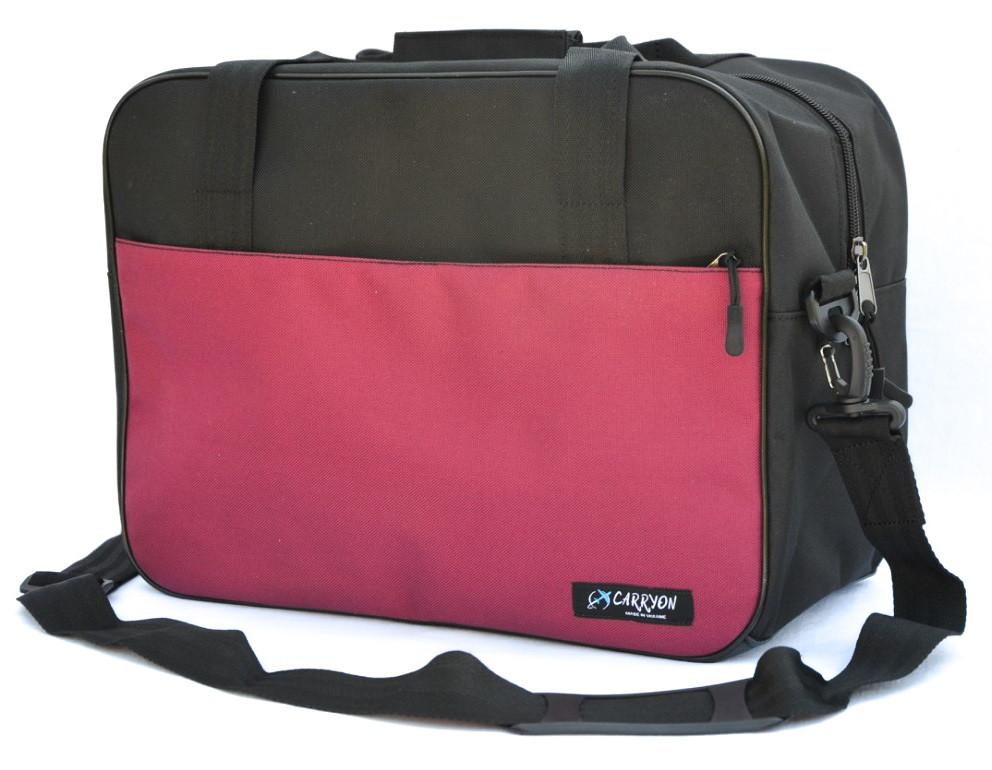Сумка дорожня для ручної поклажі WizzAir Carryon чорно-бордова 40х30х20 см