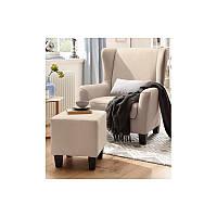Кресло Чилли с пуфиком мягкое