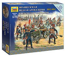 Французская пешая артиллерия 1812-1814. Набор пластиковых фигурок. 1/72 ZVEZDA 6810