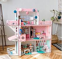 """Кукольный домик для Барби NestWood """"ЛЮКС Плюс"""" с лифтом, 5 комнат (104см), без мебели"""
