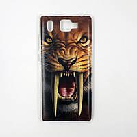 Чехол-бампер TPU силикон для Prestigio PSP5506 Grace Q5 DUO Саблезубый тигр