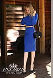 """Трикотажный стильный костюм, кофта с длинным рукавом и юбка-карандаш миди """"Венера"""", фото 2"""