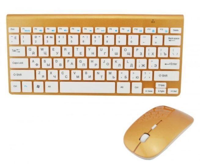 Беспроводная клавиатура с мышкой в стиле Apple