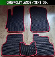 ЄВА килимки на Chevrolet Lanos '05-. EVA килими Шевроле Ланос