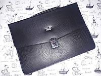 Мужская сумка-портфель из искусственной кожи черная 25001
