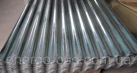 Профнастил волновой ПВ20 цинк 0,40 мм (металлошифер)