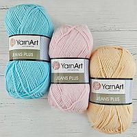 Турецкая пряжа jeans plus yarn art хлопок с акрилом, все цвета