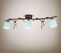 Люстра 3-х ламповая, металлическая, спальня, кухня, прихожая