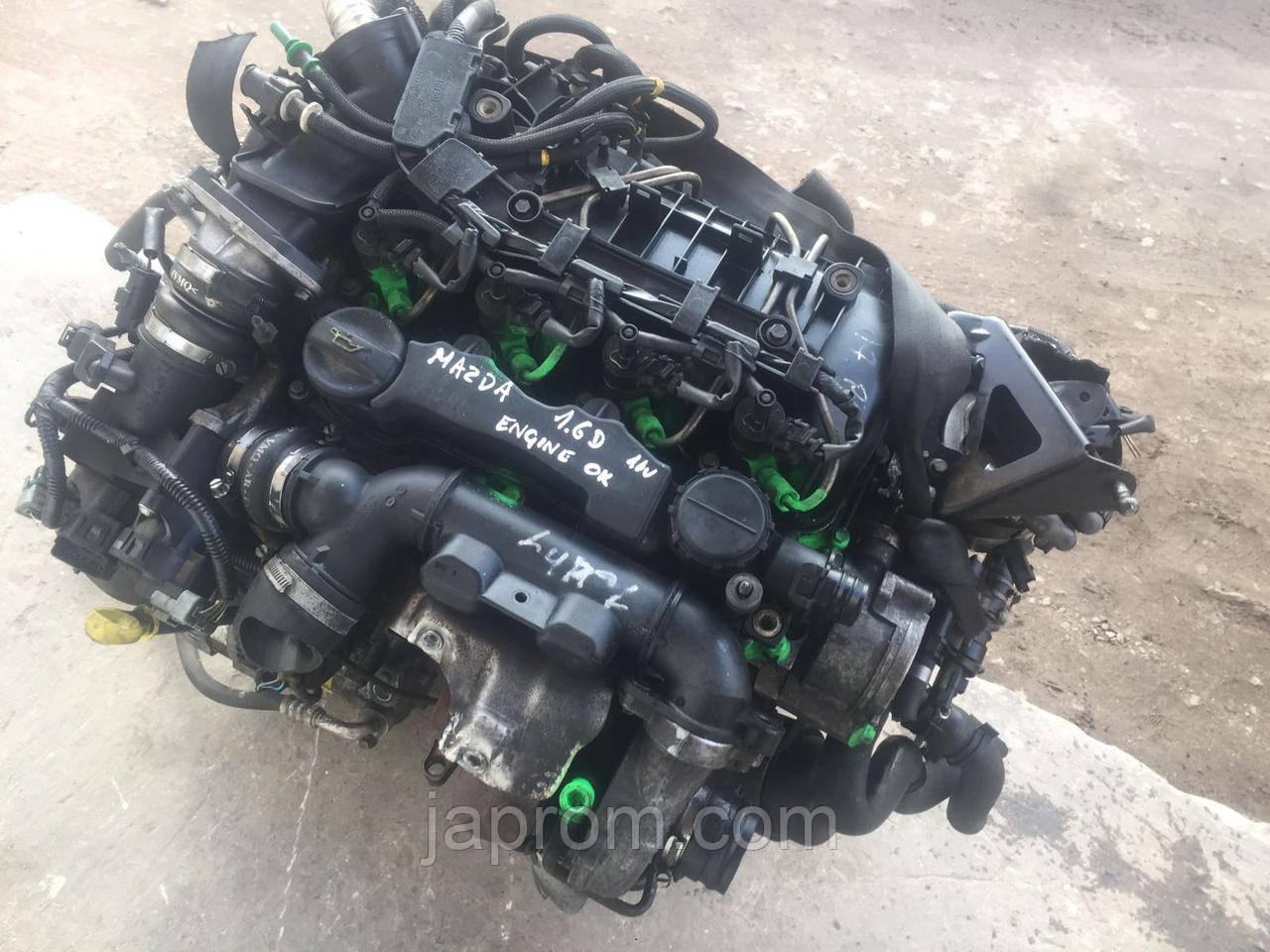 Мотор (Двигатель) Mazda 3 1.6 DI Turbo Y601 110л.с 2003-2009