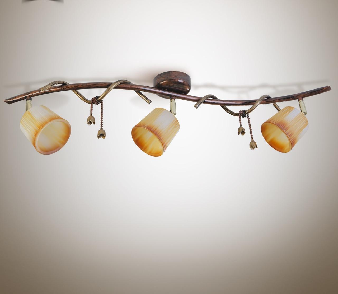 Люстра 3-х ламповая, металлическая, спальня, кухня, прихожая 9803-1