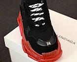 Женские кроссовки Balenciaga Triple S в стиле баленсиага трипл с черные (Реплика ААА+), фото 5