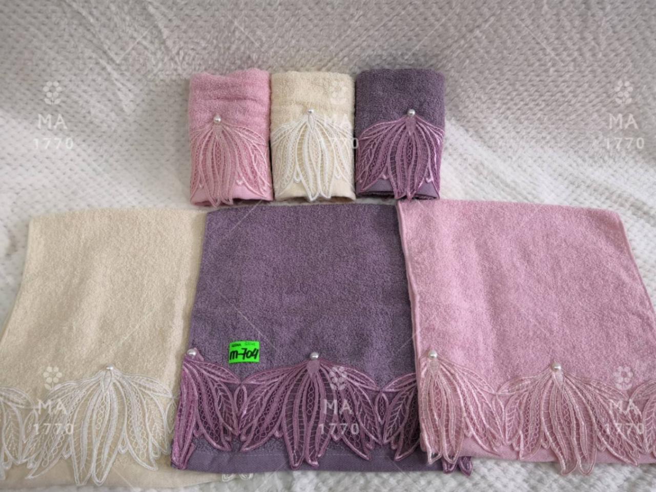 Полотенце кухонное махровое 35*70 см (от 10 шт) - 5683182