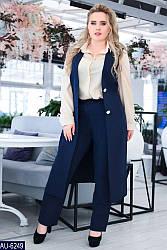 Костюм брючный женский кардиган и брюки батал размеры 48 50 52 54 56  Новинка есть много цветов