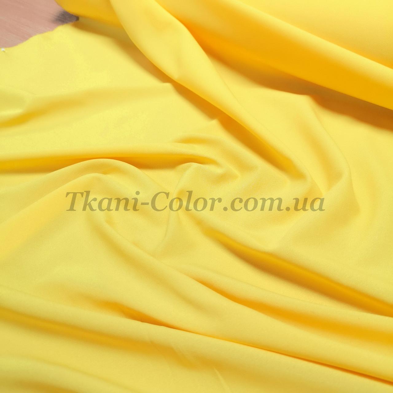 Тканина креп-шифон жовтий