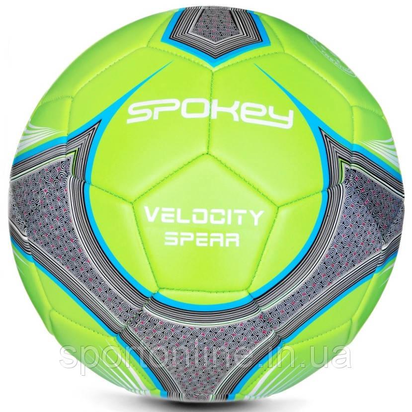 Футбольный мяч Spokey Velocity Spear, размер №5, салатовый с рисунком 5