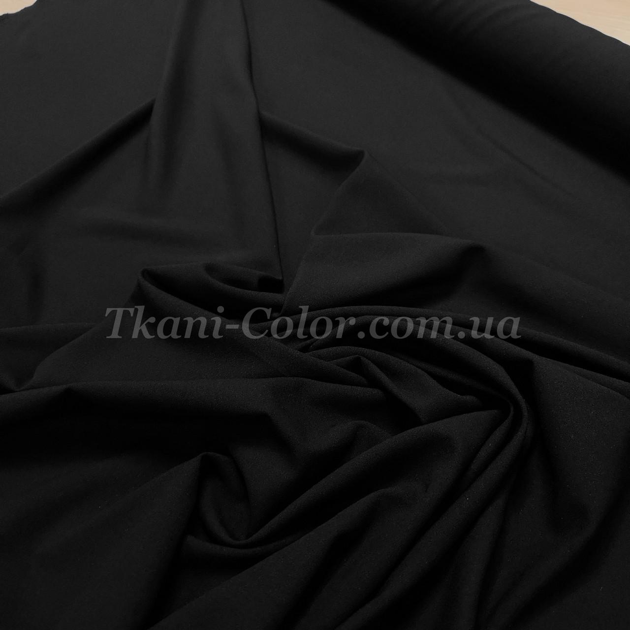 Ткань креп-шифон черный