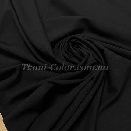 Ткань креп-шифон черный, фото 2