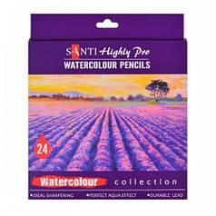 Набор акварельных карандашей Santi Highly Pro 24 шт 742385