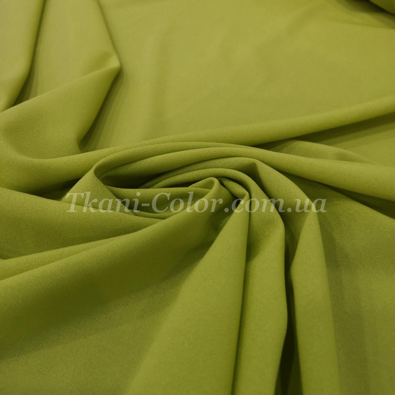 Тканина креп-шифон оливковий