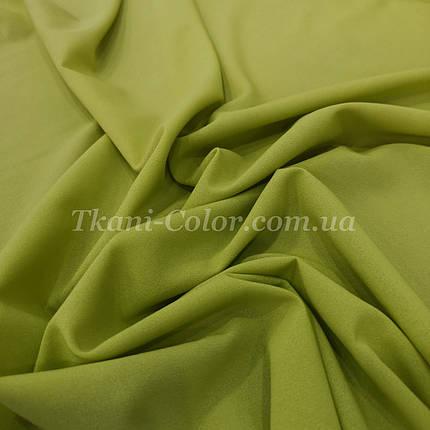 Тканина креп-шифон оливковий, фото 2