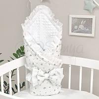 Плед конверт для новорожденных Shine серебро россыпь сердечки