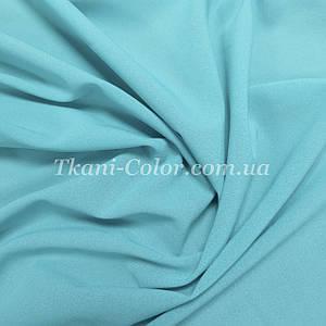 Ткань креп-шифон голубой
