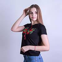 """Футболка вышиванка женская """"Мак-2"""", фото 1"""