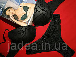 Комплект нижньої білизни, Jadea 4029, чорний