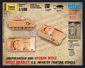 """Американский БМП """"Брэдли"""" М2А. Сборная модель, сборка без клея. 1/100 ZVEZDA 7406, фото 2"""