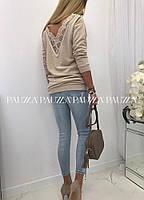 Кофта женская с кружевом в расцветках  52041, фото 1