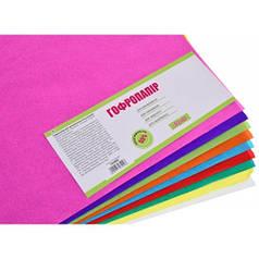 Набор бумаги гофрированной. 55% А3 10 цв. 10 л. 703909
