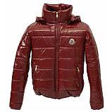 ОПТОМ Куртка дутик жіноча демісезонна з капюшоном від виробника, модель Світу Лак, розміри 42-48, фото 2