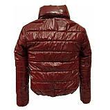 ОПТОМ Куртка дутик жіноча демісезонна з капюшоном від виробника, модель Світу Лак, розміри 42-48, фото 3