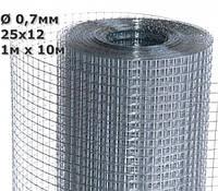Сетка сварная штукатурная 25х12х0,7