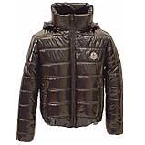 ОПТОМ Куртка дутик жіноча демісезонна з капюшоном від виробника, модель Світу Лак, розміри 42-48, фото 6