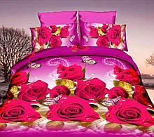Комплект постельного белья от украинского производителя Polycotton Полуторный T-90952