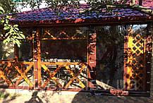 Мягкие окна из ПВХ. Защита беседки плёночными материалами