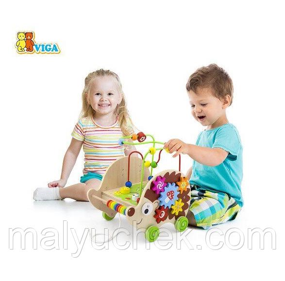 Игрушка-каталка Ёжик 4 в 1 Viga toys (50012)