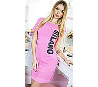 Облегающее летнее женское платье туника из трикотажа