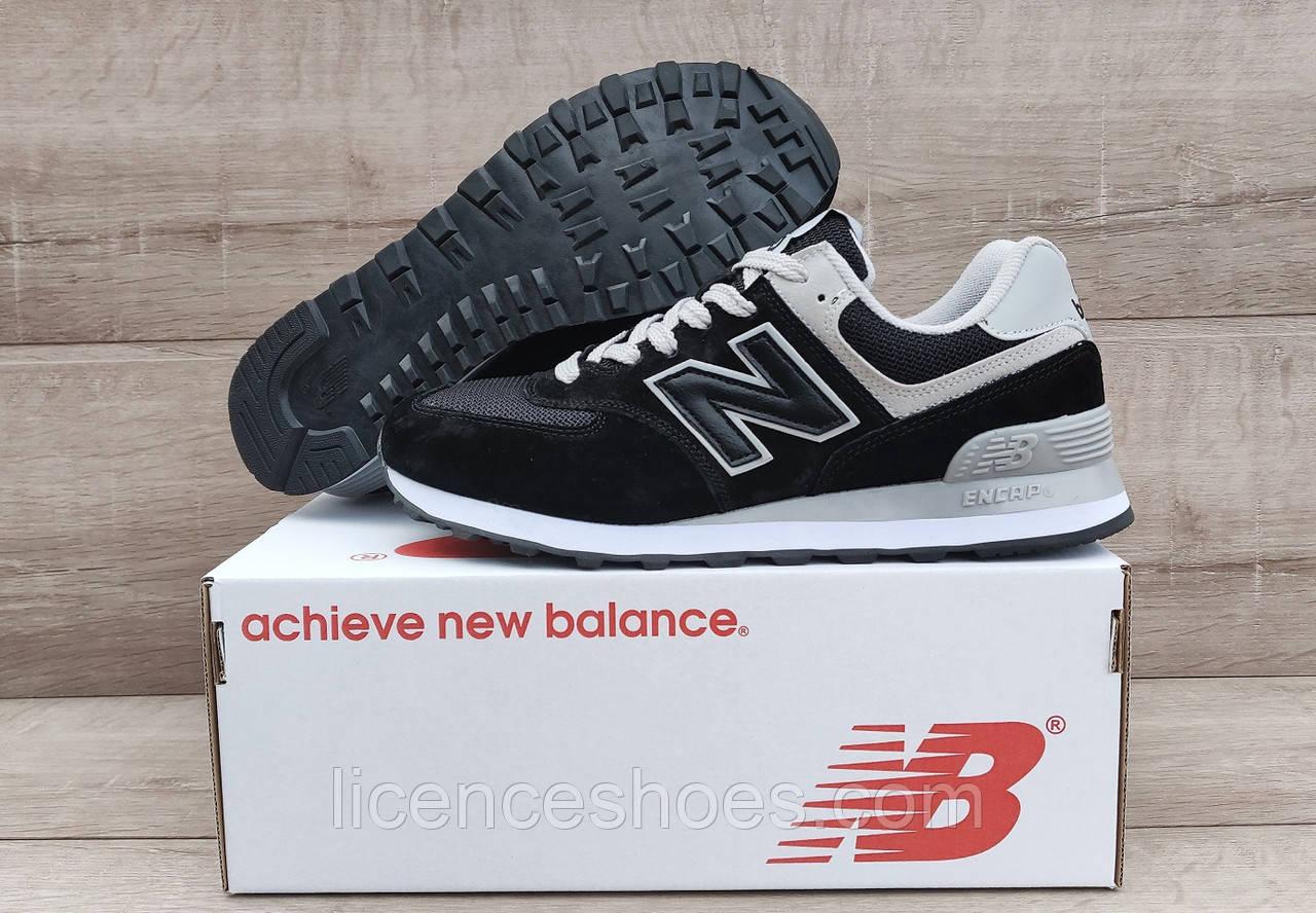 Мужские черные кроссовки New Balance 574 Black/White