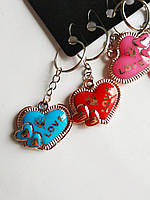 Брелок Серце з позолотою LOVE, фото 1